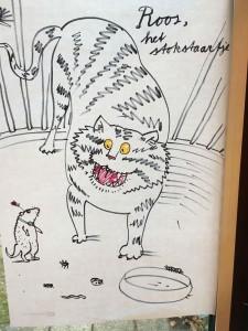 Illustratie van Juliette bij het verhaal van de Stokstaartjes