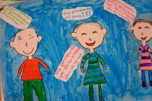 8-jarigen vertellen over opa en oma in het Engels