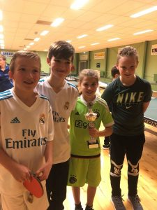 Thomas, Rogier, Anouk en Wessel